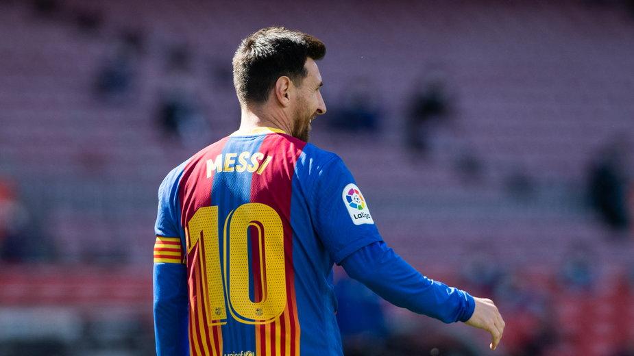 Lionel Messi w koszulce Barcelony
