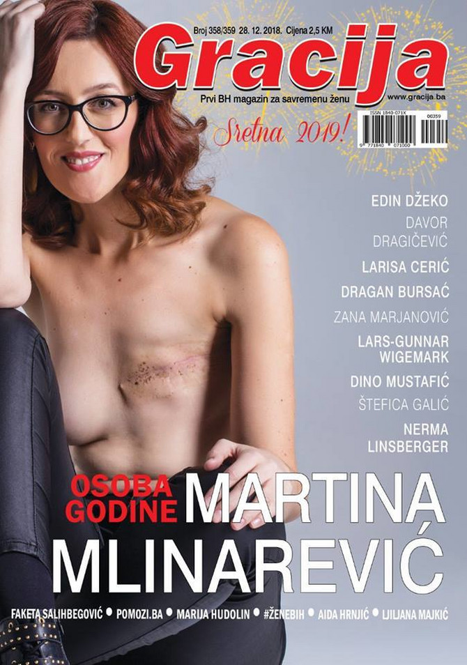 """Martina na naslovnici """"Gracije"""""""