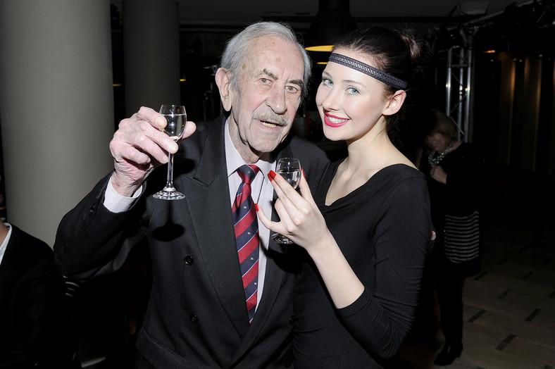 Jan Kobuszewski podczas swych 70. urodzin
