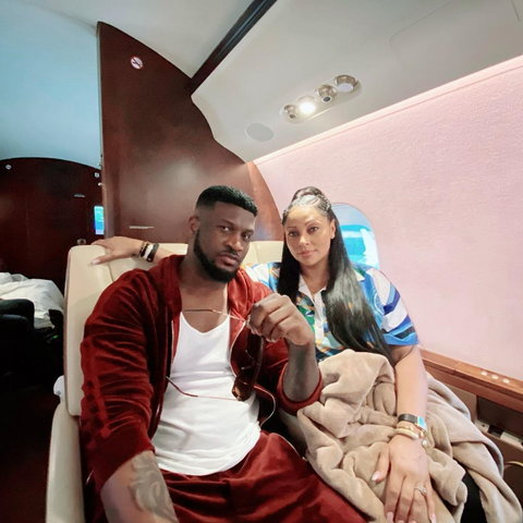 Peter Okoye and his wife, Lola Omotayo. [Instagram/PeterPsquare]