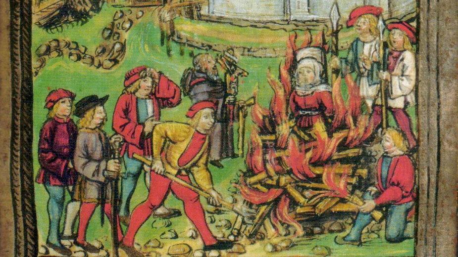 Spalenie kobiety na stosie