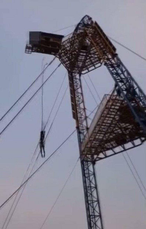 Wstrząsające nagranie ze skoku na bungee. 29-latka omal nie zginęła!