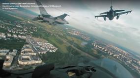 Zobacz jak wygląda przelot nad Warszawą z kokpitu F-16