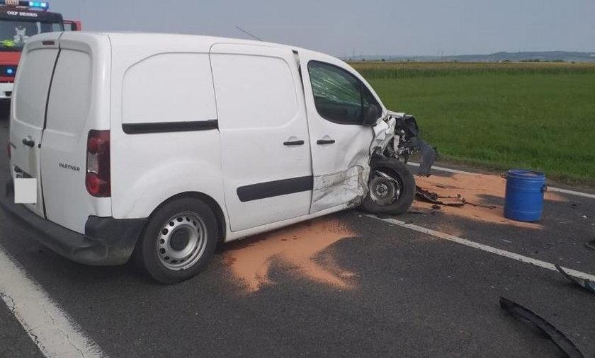 Wypadek w Zarszynie