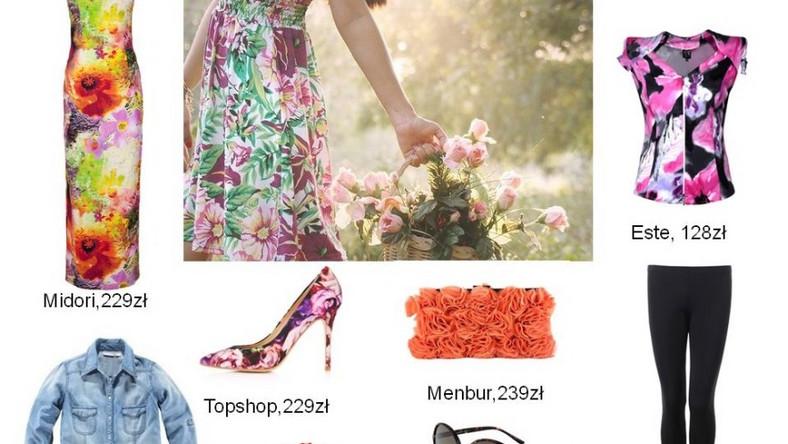 Kwiaty we włosach - kwiaty na ubraniu
