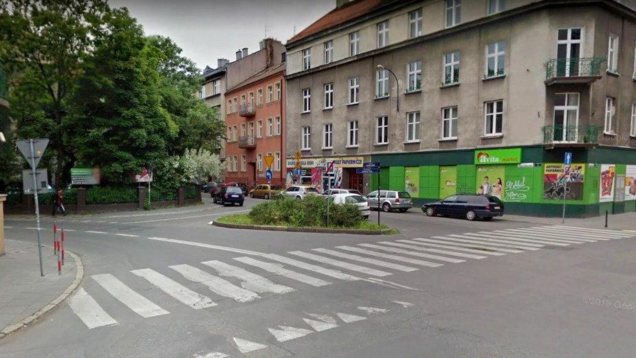 Skrzyżowanie Łokietka, Friedleina i Wrocławskiej w Krakowie