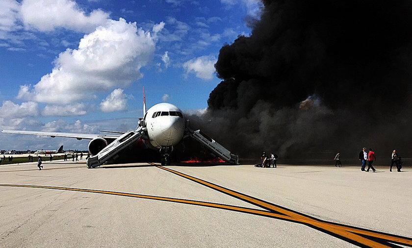 Pożar samolotu w USA