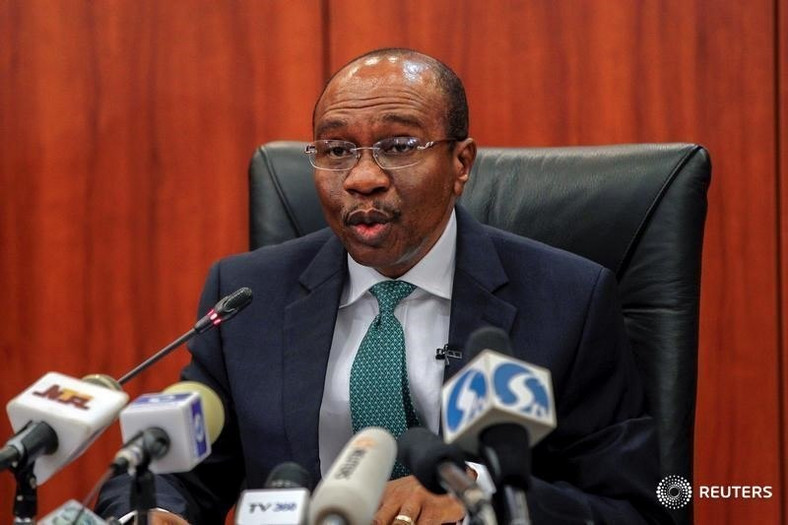 Central Bank Governor Godwin Emefiele speaks during the monthly Monetary Policy Committee meeting in Abuja, Nigeria January 26, 2016.
