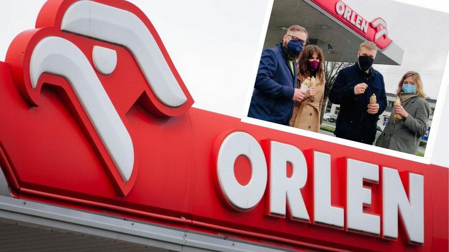 Politycy Lewicy zrobili sobie zdjęcie na stacji Orlen