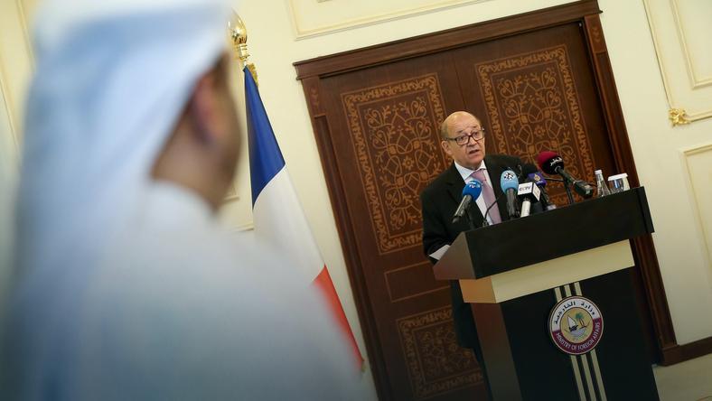Szef francuskiej dyplomacji Jean-Yves Le Drian