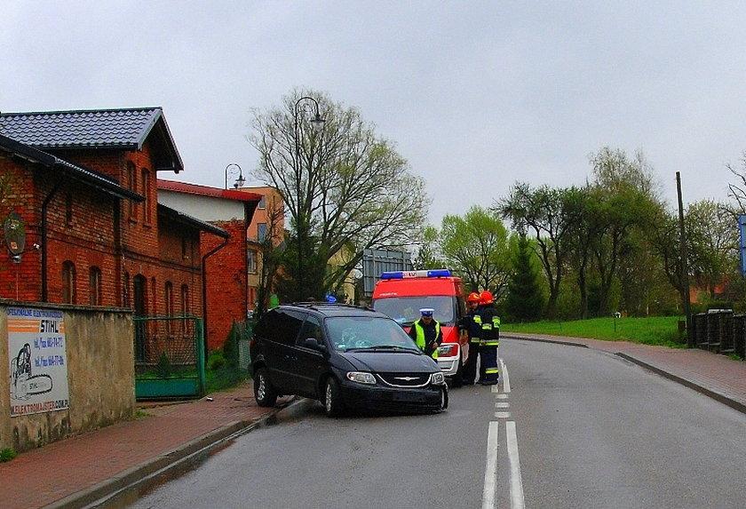 Wypadek w Przodkowie koło Kartuz