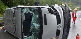 Wypadek polskiego busa w Austrii. Dwie osoby zabite, sześcioro rannych