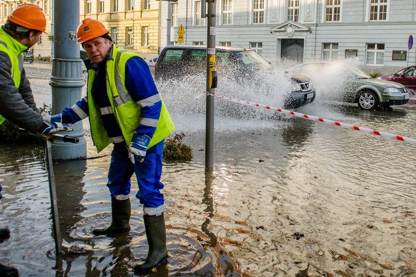 woda zalała Gdańsk