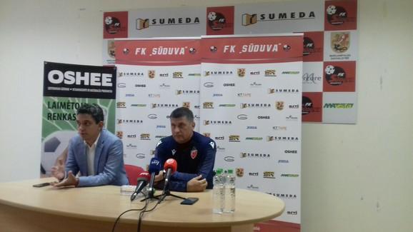 Vladan Milojević na konferenciji za štampu u Litvaniji
