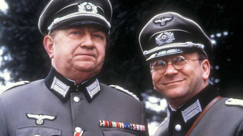 "Sam Kelly i Richard Marner w serialu ""Allo 'Allo!"""