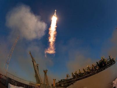 Sojuz został wystrzelony z kosmodromu Bajkonur w Kazachstanie