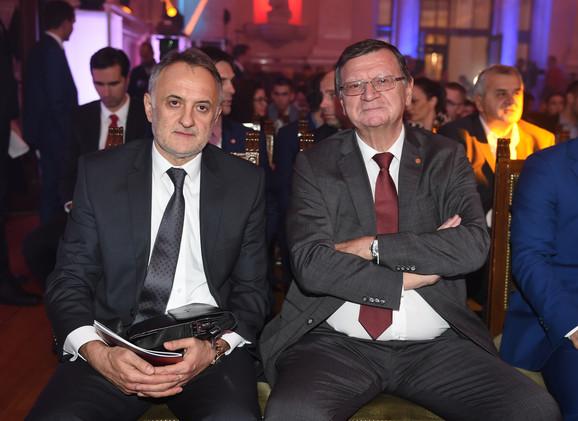 Predsednik Odbojkaškog saveza Srbije Zoran Gajić i Aleksandar Boričić, prvi čovek CEV-a