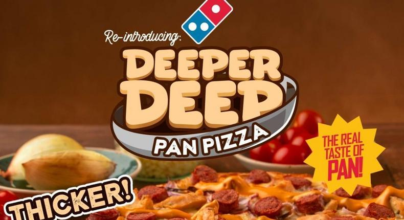 Domino's brings the real taste with the Deeper Deep Pan!