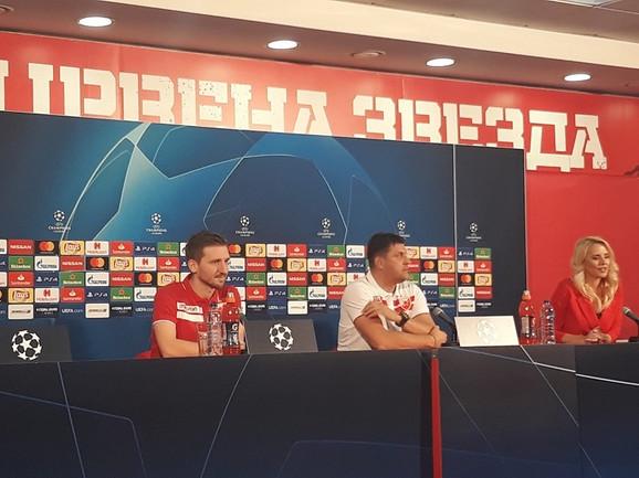 Marko Marin i Vladan Milojević na konferenciji za štampu pred meč Zvezda - Liverpul