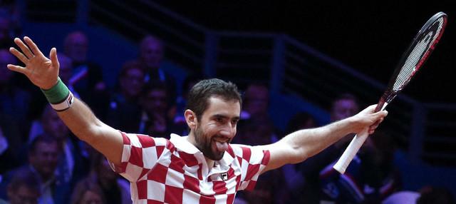 Marin Čilić nakon pobede u finalu Dejvis kupa