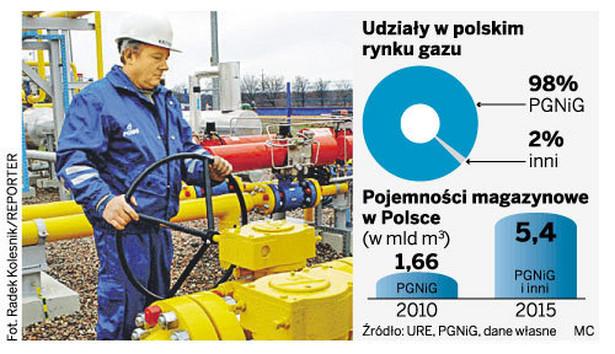 Udział w polskim rynku gazu