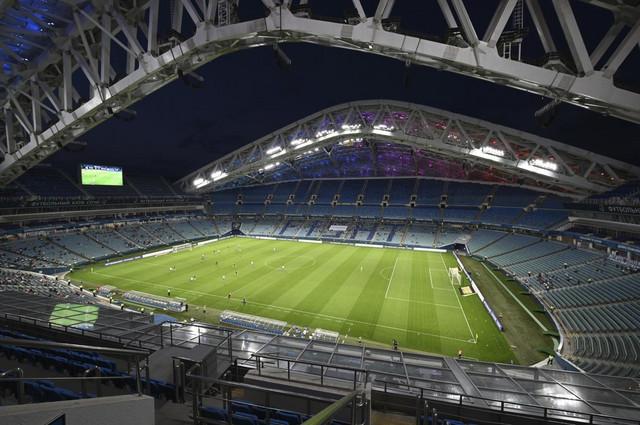 Stadion u Sočiju tokom meča domaćih i FK Rostov