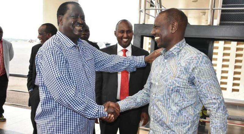 Photos of DP Ruto hanging out with Raila stir the internet