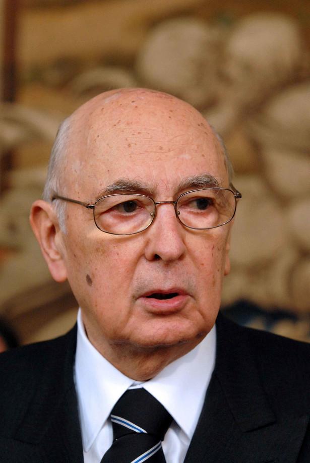 Prezydent Włoch Giorgio Napolitano oznajmił w piątek, że nie podpisze dekretu rządowego znacznie zwiększającego część wpływów podatkowych, które zatrzymują dla siebie bogate północne regiony Italii. Fot. Bloomberg