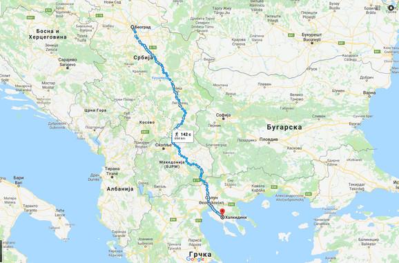 Najprometnija trasa je preko Makedonije
