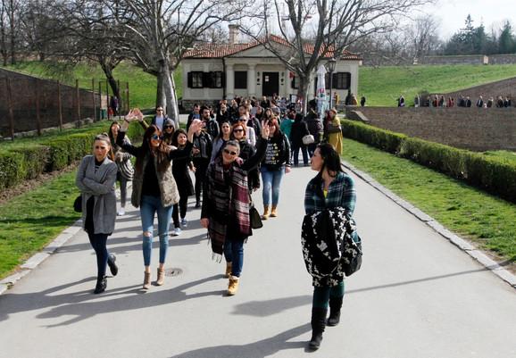 Turisti u Beogradu, Kalemegdan omiljen za obilazak