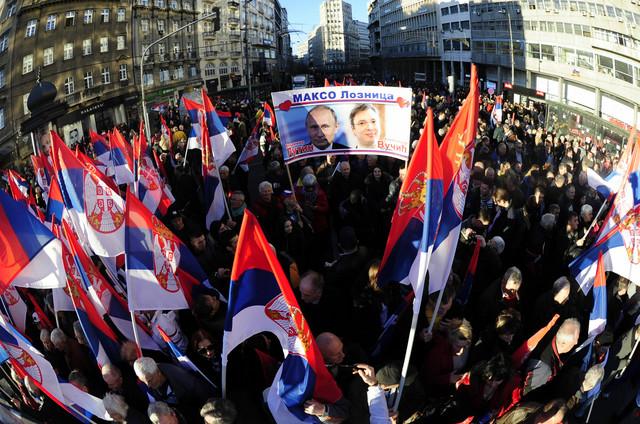 Šetnja za Putina u centru Beograda