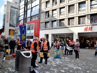 Action against job unjustness in Cologne