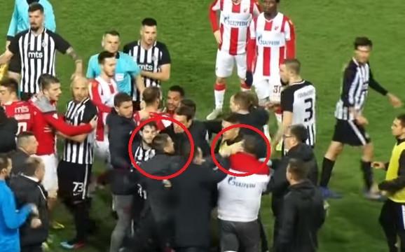 Trenutak kada Zoran Bata Mirković udara Milana Kosanovića