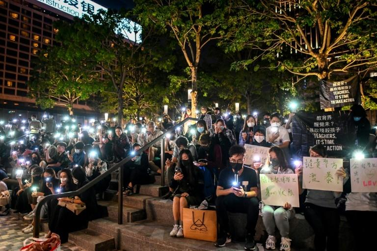 Public protests have been held outside the PolyU campus in Hong Kong, in support of those barricaded inside