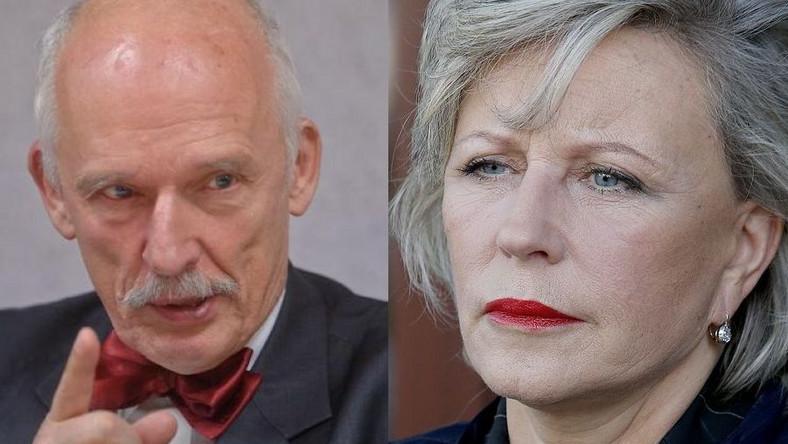 Janusz Korwin-Mikke, Krystyna Janda