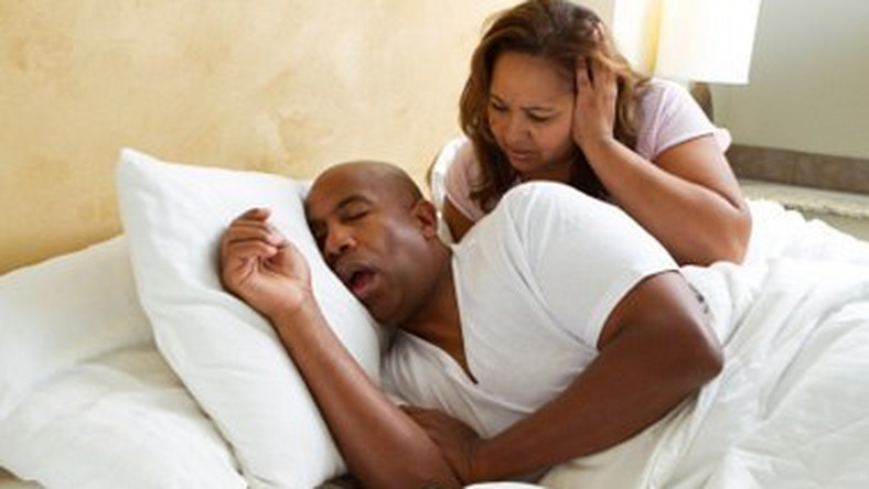 Snoring happens when you can't move air freely through your nose and throat during sleep