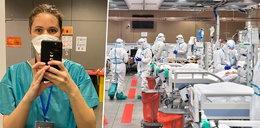 """""""Ze śmiercią jestem na co dzień"""". Pielęgniarka ze szpitala tymczasowego mówi, jak żegna pacjentów"""