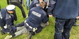 Protest w Bobrownikach. Ludzie bili się z policją. Zatrzymane dwie osoby