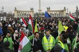 Budimpešta, protest, EPA -  BALAZS MOHAI