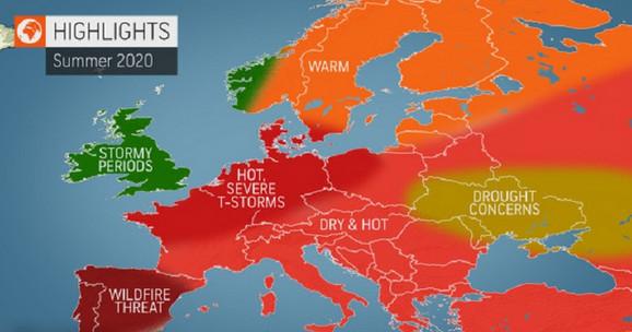 Letnja prognoza  za Evropu
