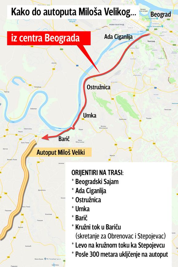 Uključenje autoputu iz centra Beograda