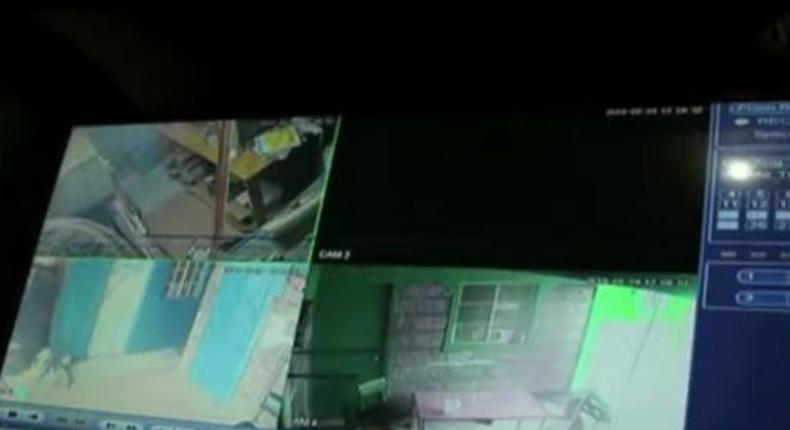 Police officers caught on CCTV engaging in robbery on the night of census