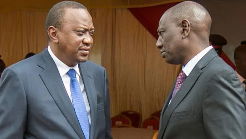 File image of President Uhuru Kenyatta with DP William Ruto