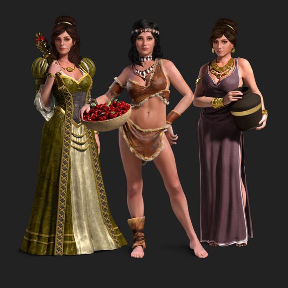 Neki od likova Forge Of Empires