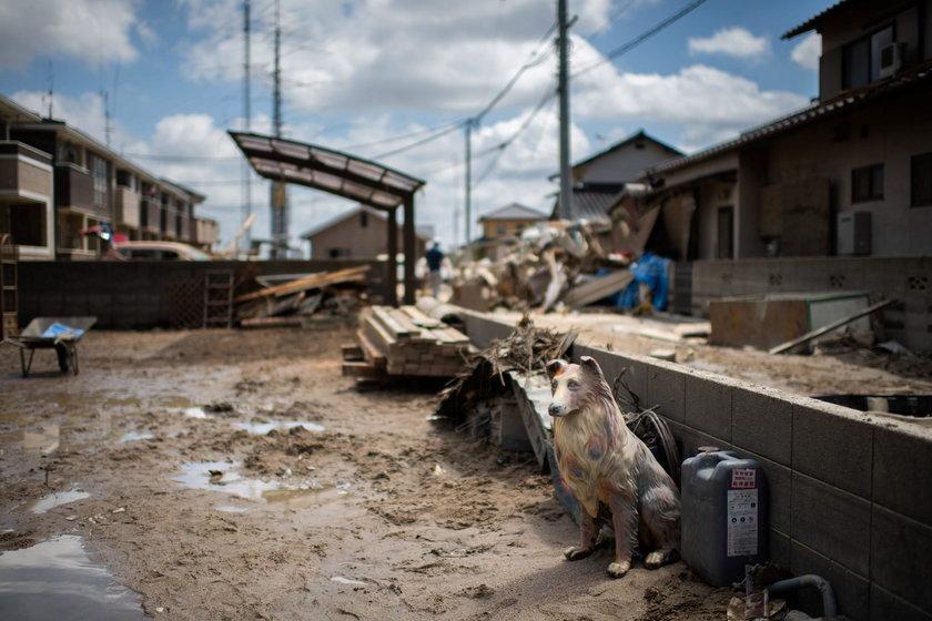 Japonia ulewy.