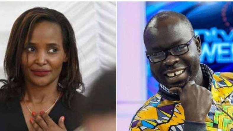 A collage image of Anne Thumbi(L) and the late Ken Okoth(R)