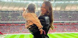 Tak Anna Lewandowska z córką kibicowała Robertowi podczas meczu Polska-Albania