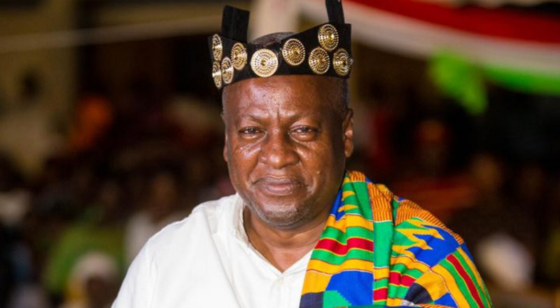 John Mahama enstooled Chief in Bono East region