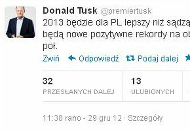 Donald Tusk na Twitterze