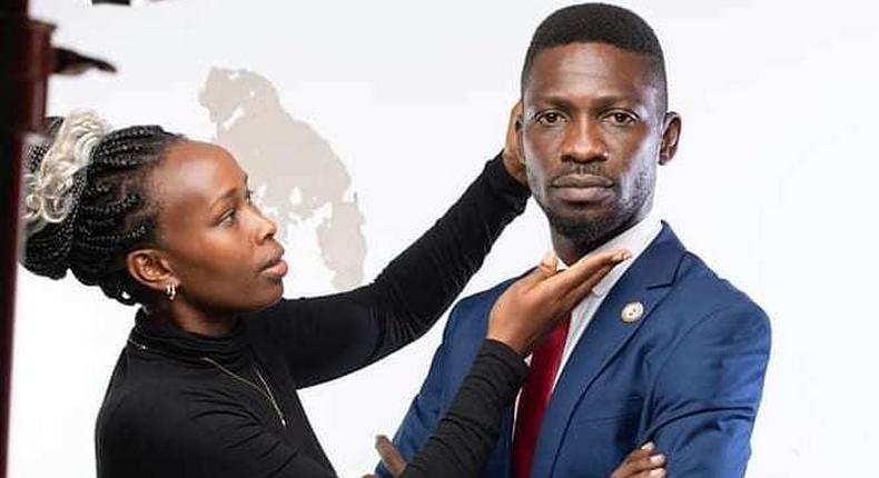 Bobi Wine and his wife Barbie Kyagulanyi